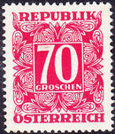 Austria 1949 Postage Due Stamps - Square frame with digit (1st Group) i