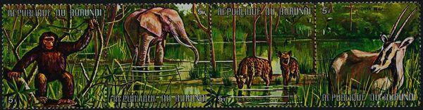 Burundi 1971 Animals ad