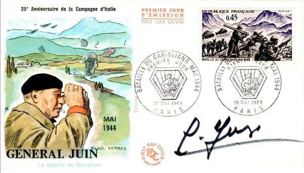 France 1969 25th Anniversary of the Battle of the Garigliano FDCa
