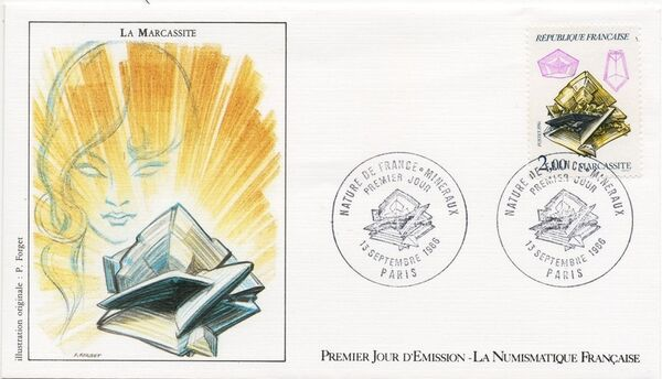 France 1986 Minerals FDCe