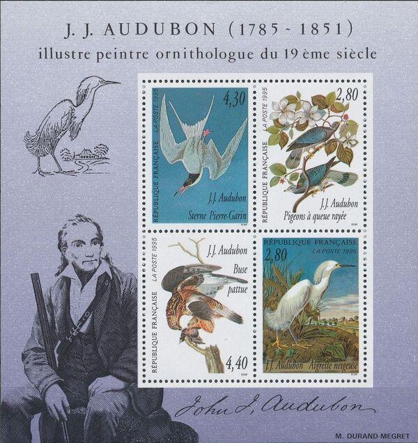 France 1995 Birds by J.J. Audubon Sa