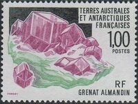 French Southern and Antarctic Territories 1993 Minerals - Almandine Garnet a