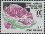 French Southern and Antarctic Territories 1993 Minerals - Almandine Garnet