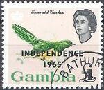 Gambia 1965 Birds Overprinted m