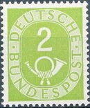 Germany, Federal Republic 1951 Posthorn and Numbers a