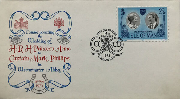 Isle of Man 1973 Wedding of Princess Anne and Capt. Mark Phillips o