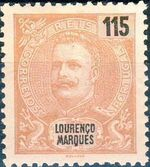 Lourenço Marques 1903 D. Carlos I New Values and Colors f