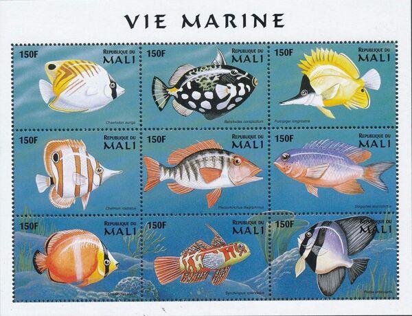 Mali 1997 Marine Life zo