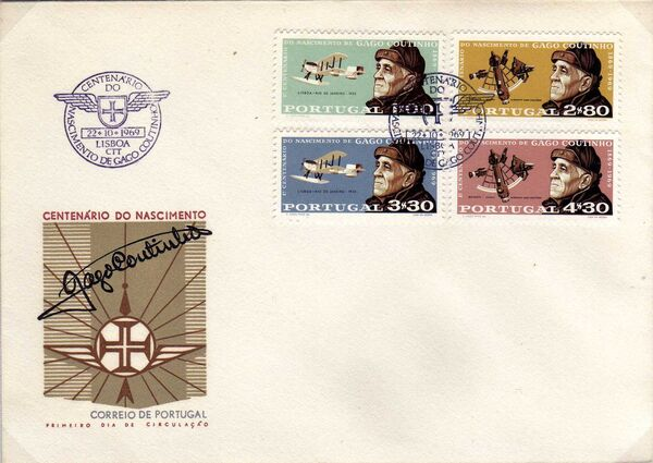 Portugal 1969 100th Anniversary of the birth of Admiral Gago Coutinho l