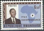 Rwanda 1962 Independence f