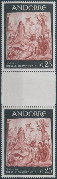 Andorra-French 1967 Frescoes d