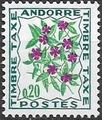 Andorra-French 1971 Flowers - 3rd Group (Postage Due Stamps) a.jpg