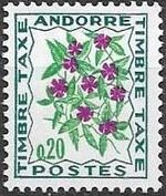 Andorra-French 1971 Flowers - 3rd Group (Postage Due Stamps) a