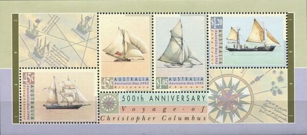 Australia 1992 500th Anniversary of the Voyage of Christopher Columbus h