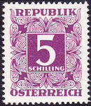Austria 1949 Postage Due Stamps - Square frame with digit (1st Group) p