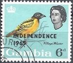 Gambia 1965 Birds Overprinted g