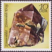 Germany DDR 1972 Minerals Found in East Germany b
