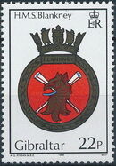 Gibraltar 1989 Royal Navy Crests 8th Group a