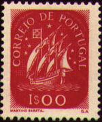 Portugal 1943 Portuguese Caravel (2nd Issue) e