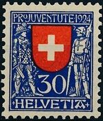Switzerland 1924 PRO JUVENTUTE - Coat of Arms d