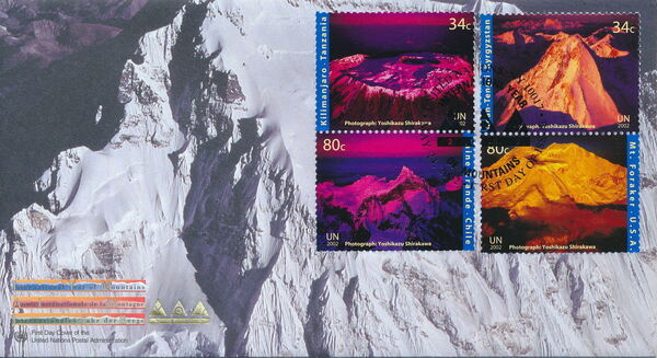 United Nations-New York 2002 International Year of Mountains FDCa