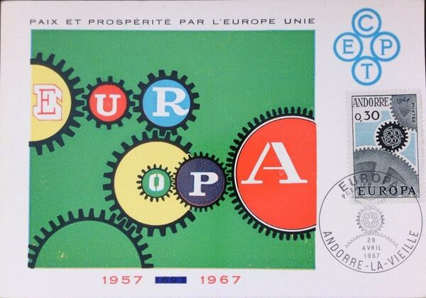 Andorra-French 1967 Europa MCa