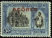 Azores 1926 1st Independence Issue Overprinted b