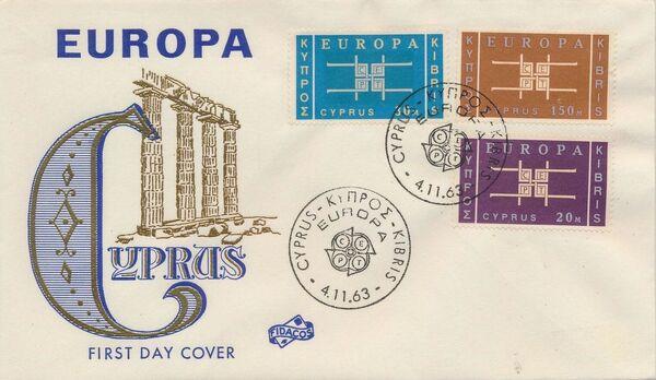 Cyprus 1963 Europa FDCa