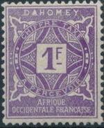 Dahomey 1914 Numerals h