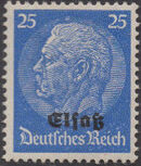German Occupation-Alsace 1940 Stamps of Germany (1933-1936) Overprinted in Black j