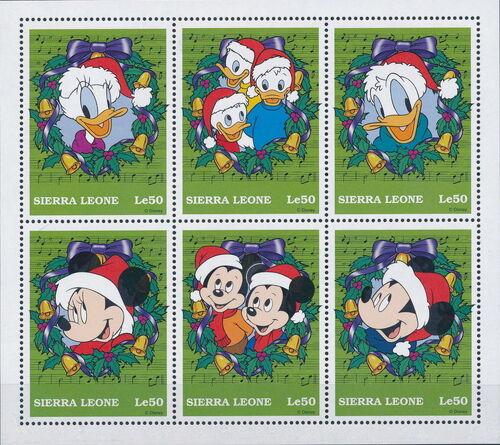 Sierra Leone 1997 Disney Christmas Stamps Sa