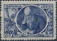 Soviet Union (USSR) 1947 Nikolai E. Zhukovski b