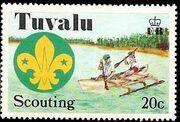 Tuvalu 1977 Scouting in Tuvalu 50th Anniversary b