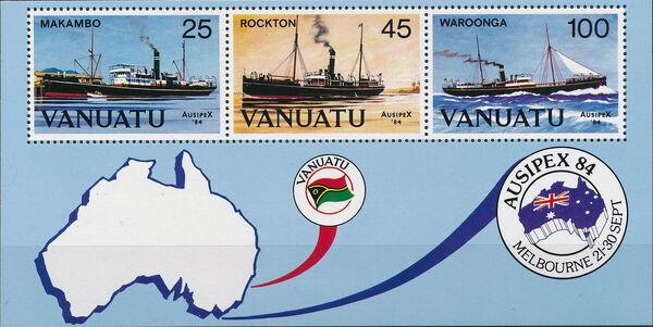 Vanuatu 1984 Ausipex '84 - Ships d