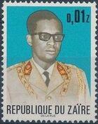 Zaire 1973 President Joseph Desiré Mobutu a