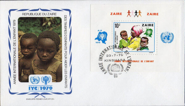 Zaire 1979 International Year of the Child fb