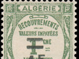 Algeria 1927 Postage Due Stamps (Type Recouvrements) Surcharged