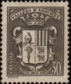 Andorra-French 1942 Coat of arms of Andorra a.jpg