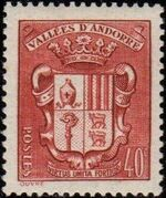 Andorra-French 1942 Coat of arms of Andorra b