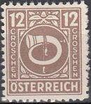 Austria 1945 Posthorn h