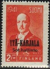 Eastern Karelia 1942 President Ryti Overprinted c