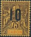 Gabon 1912 Navigation and Commerce Surcharged j.jpg