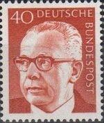 Germany, Federal Republic 1971 President Gustav Heinemann (4th Group) a
