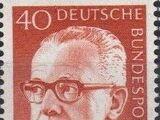 Germany, Federal Republic 1971 President Gustav Heinemann (4th Group)