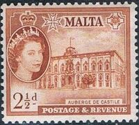 Malta 1956 Elizabeth II f
