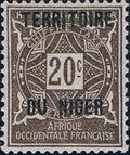 Niger 1921 Postage Due Stamps of Upper Senegal and Niger Overprinted d