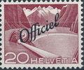 Switzerland 1950 Engineering - Switzerland Postage Stamps of 1949 Overprinted Officiel c.jpg