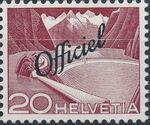 Switzerland 1950 Engineering - Switzerland Postage Stamps of 1949 Overprinted Officiel c