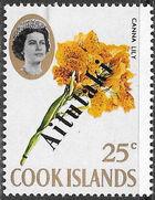 Aitutaki 1972 Flowers from Cook Islands Overprinted AITUTAKI h