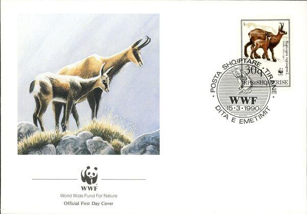 Albania 1990 WWF - Chamois FDCb